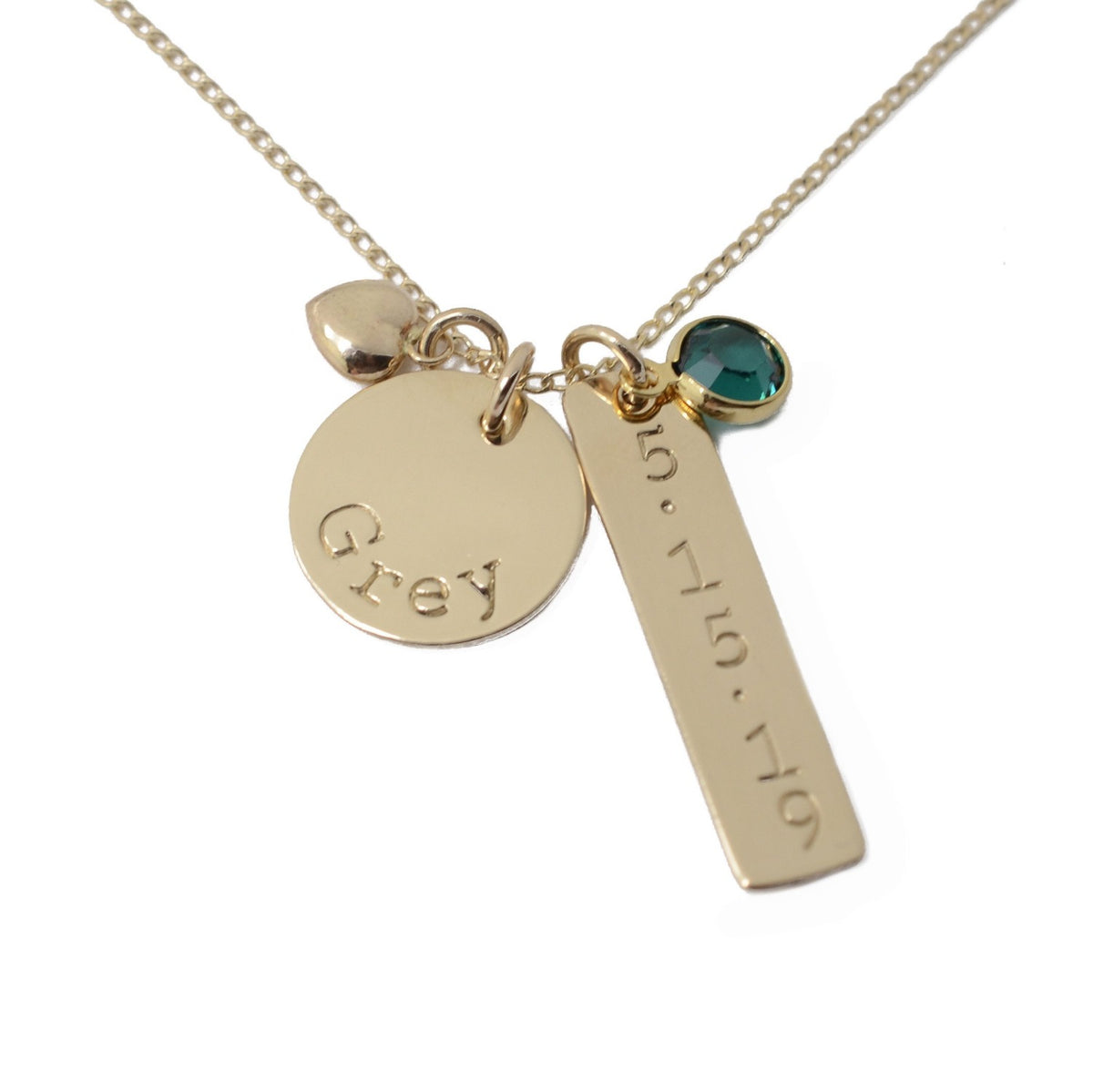 Disc & Tag Personalized Necklace - Gold Filled - Love It Personalized