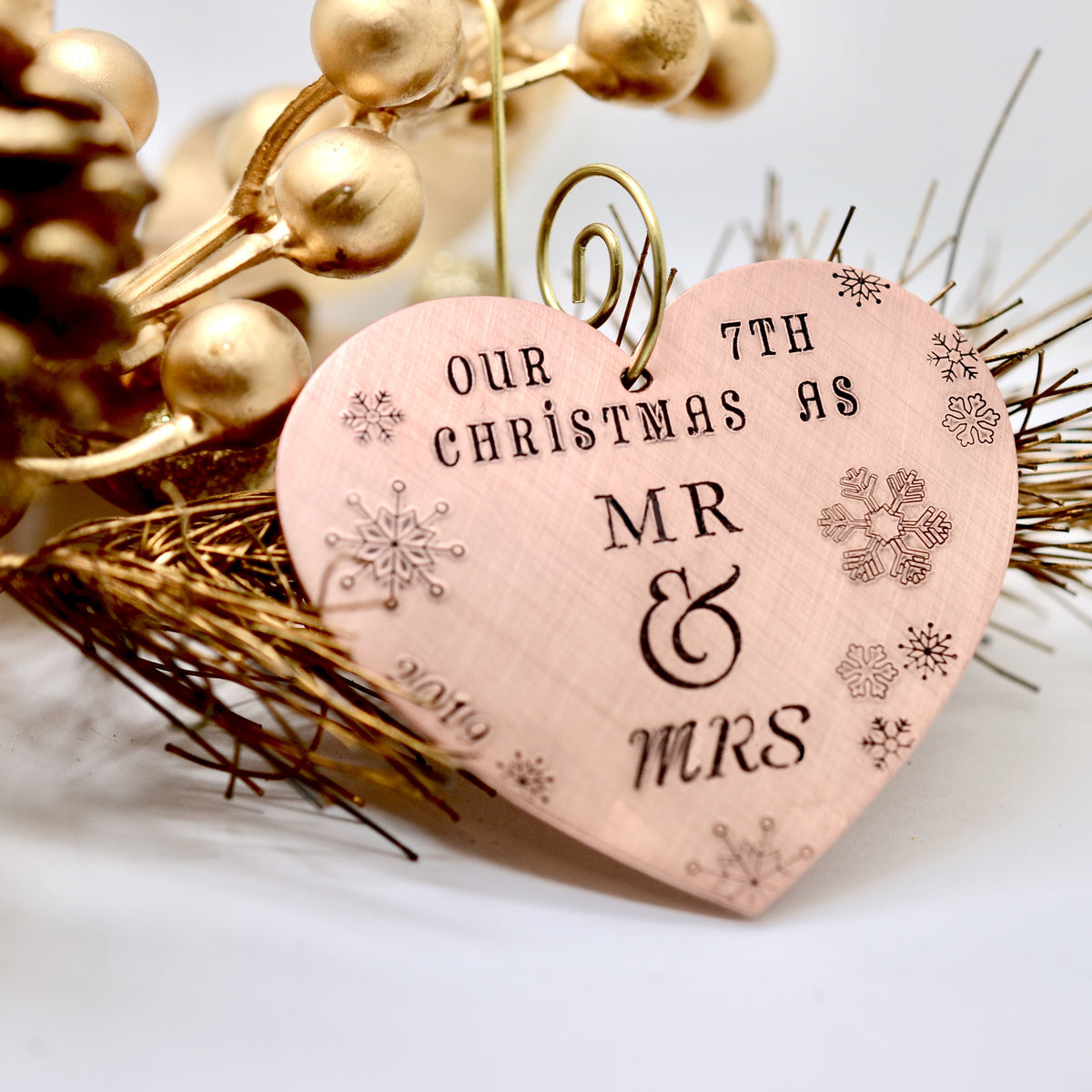 7th Wedding Anniversary Christmas Ornament - Love It Personalized