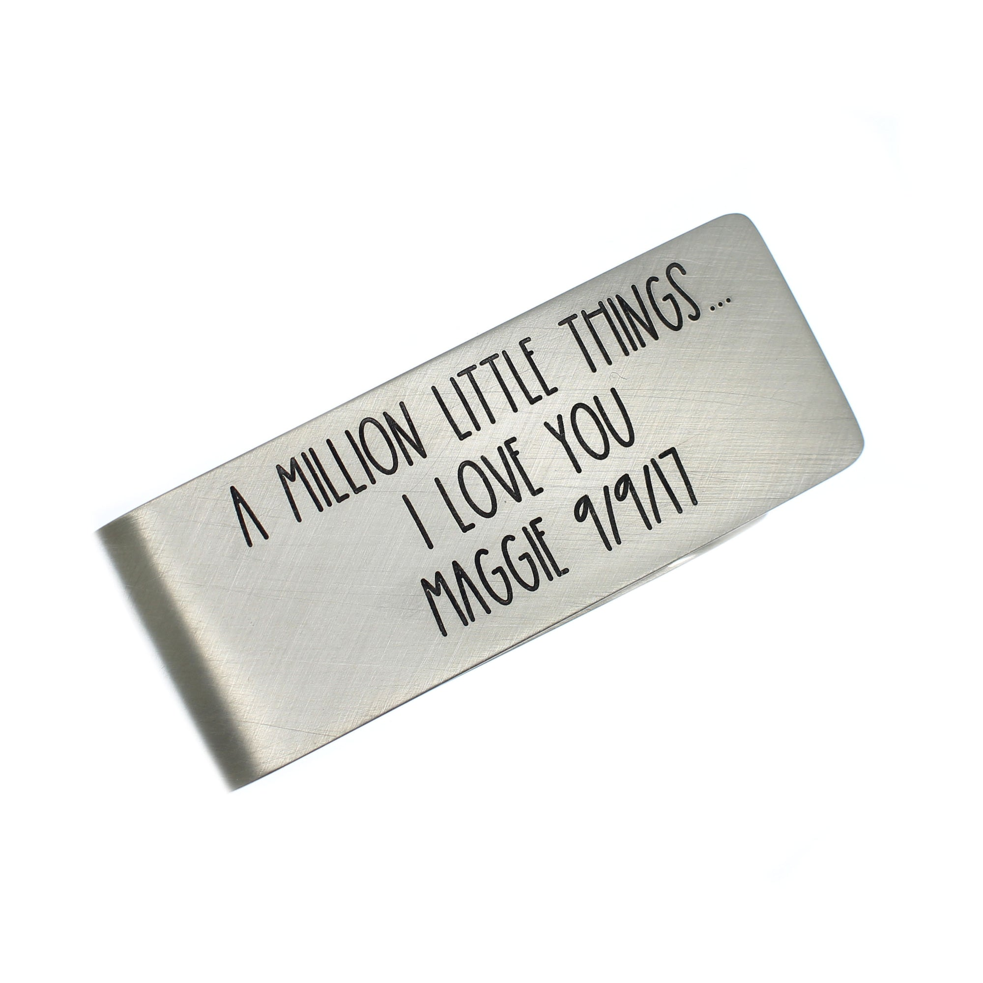 Engraved Money Clip - Sterling Silver - Love It Personalized