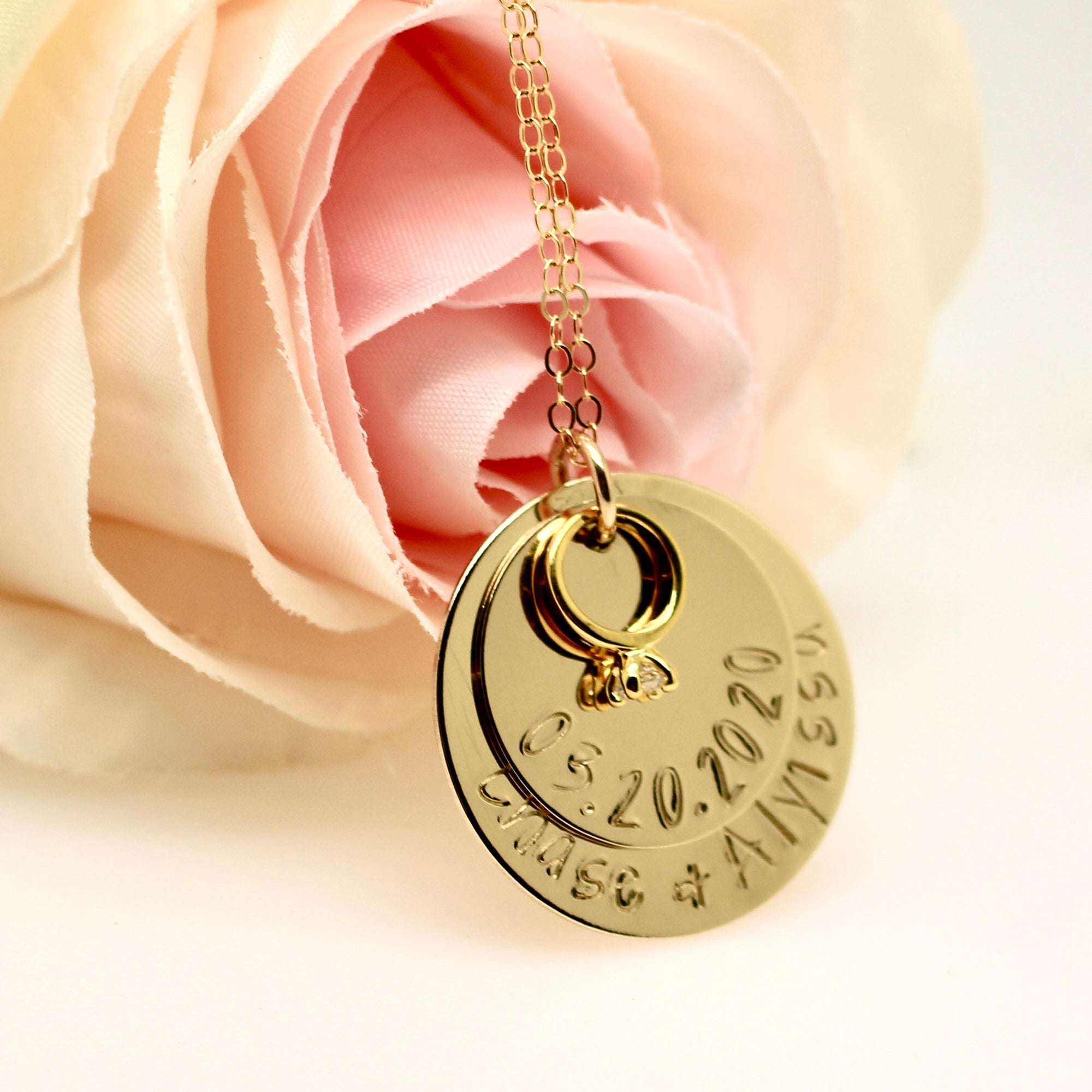 Wedding Ring Necklace - Gold Filled - Love It Personalized