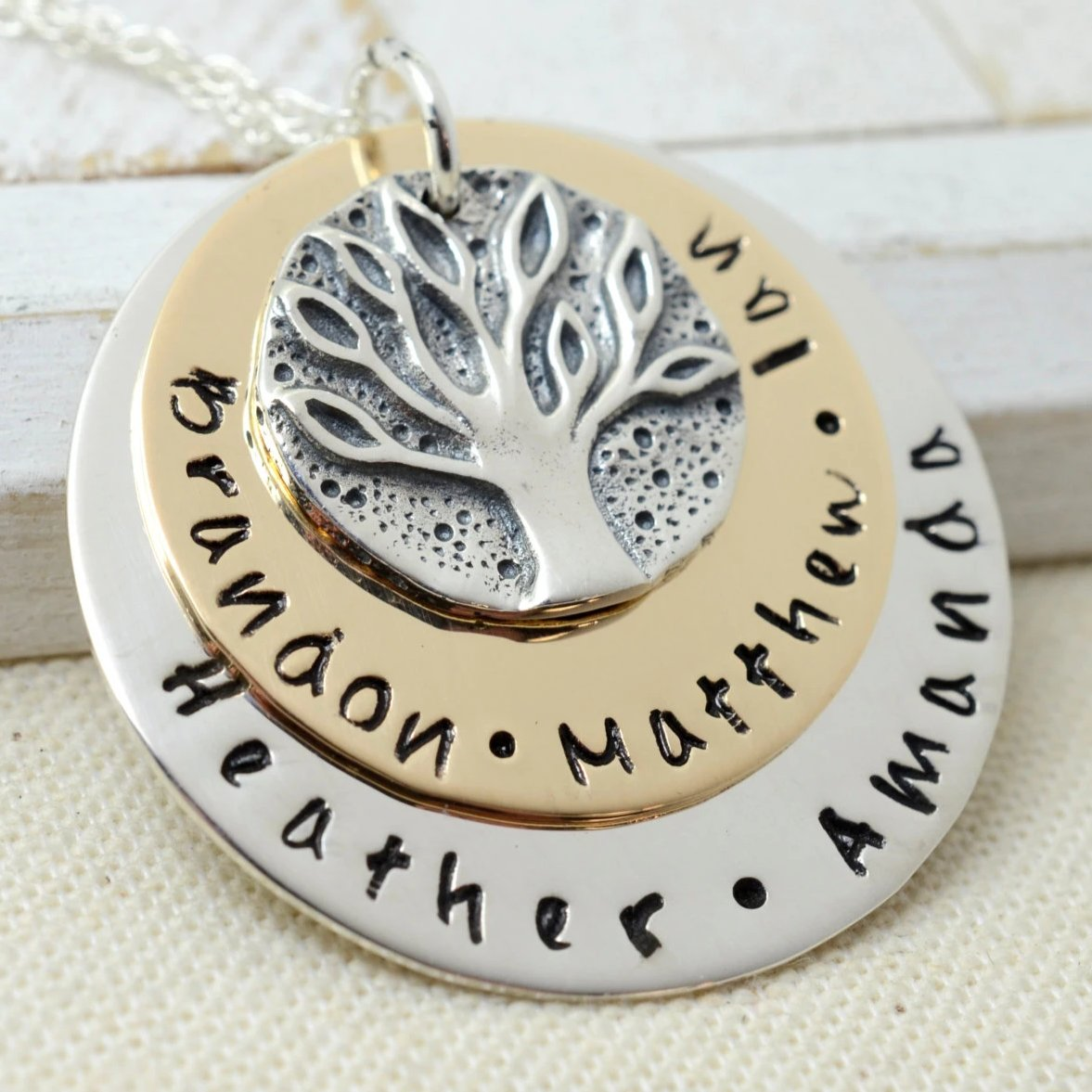 Ancient Family Tree Coin Necklace - Love It Personalized