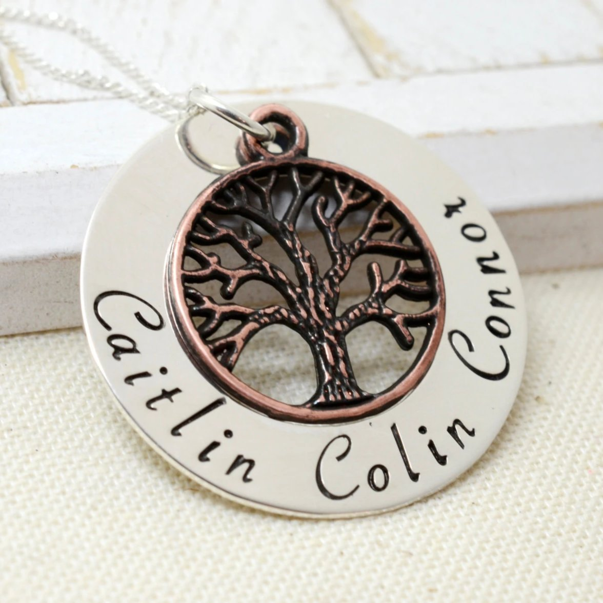 Personalized Copper Family Tree Necklace - Love It Personalized