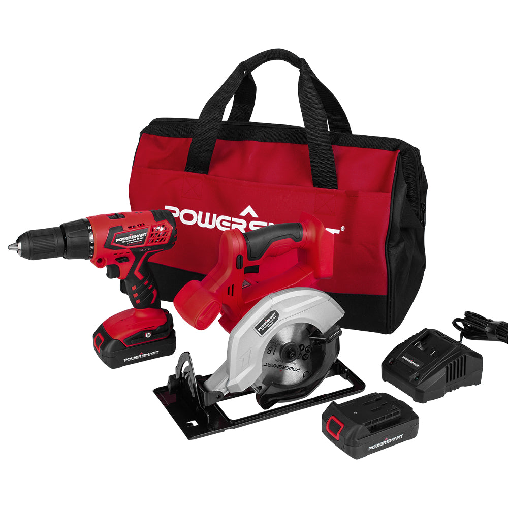PS76200C 20 V 2-in-1 Drill and Circular Saw Combo Kit