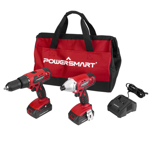PS76300C 20V Cordless Drill / Impact Driver with (2) Batteries 1.5Ah and Charger