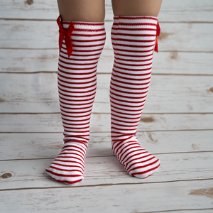 Red Striped Leg Warmers