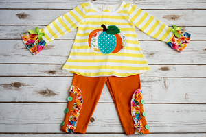 Striped Pumpkin Set