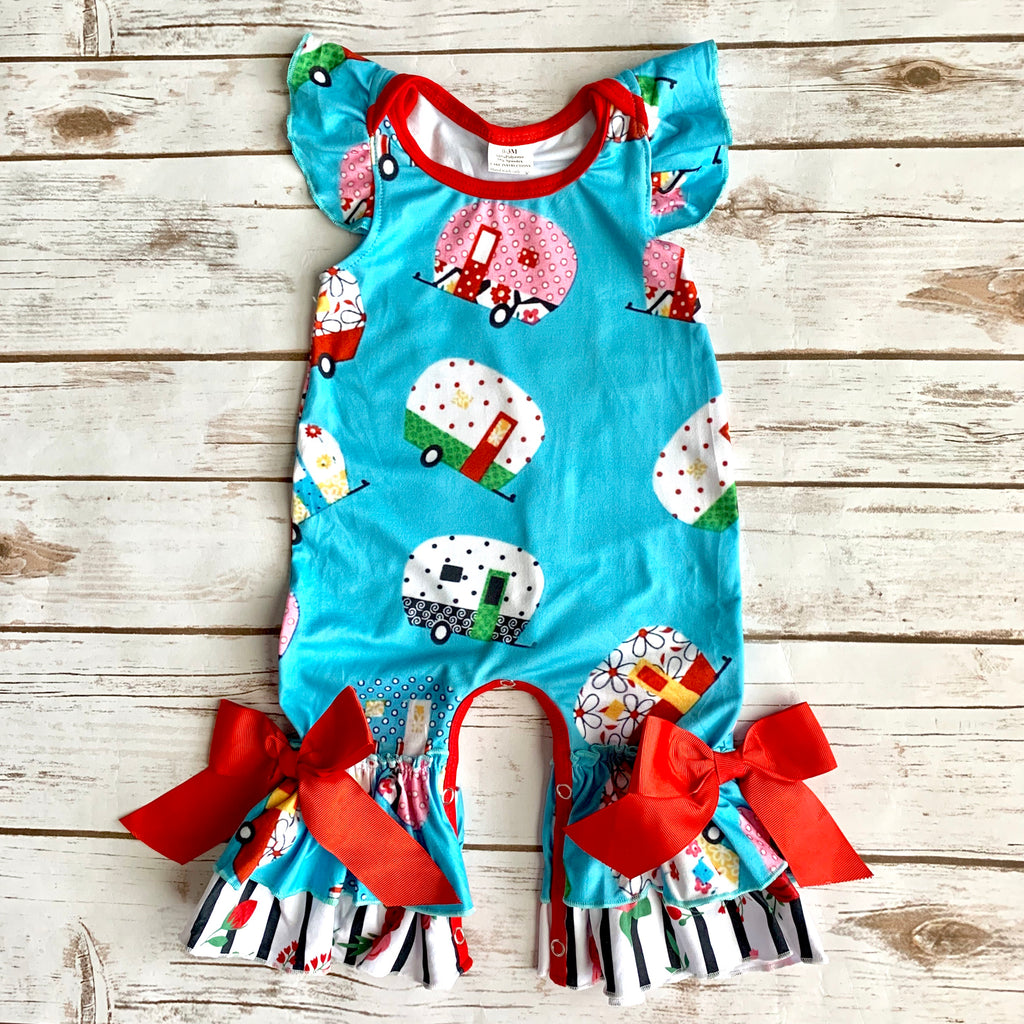 """Happy Camper"" Romper"