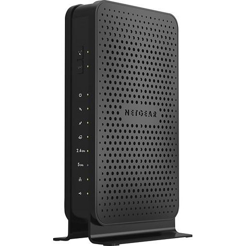 NETGEAR - N600 Dual-Band Router with DOCSIS 3.0 Cable Modem - Black