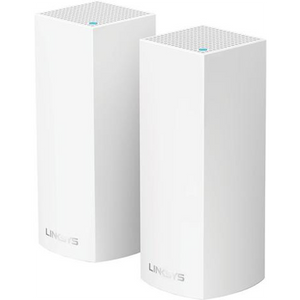 Linksys - Velop Tri-Band Whole Home Wi-Fi System (2-pack) - White