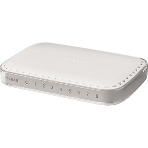 NETGEAR - 8-Port Gigabit Ethernet Switch - White
