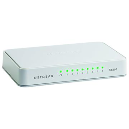NETGEAR - 200 Series Unmanaged SOHO 8-Port 10/100/1000 Gigabit Switch - White