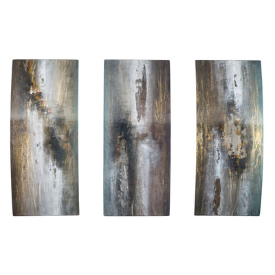 Peter Skidd's neutral triptych art
