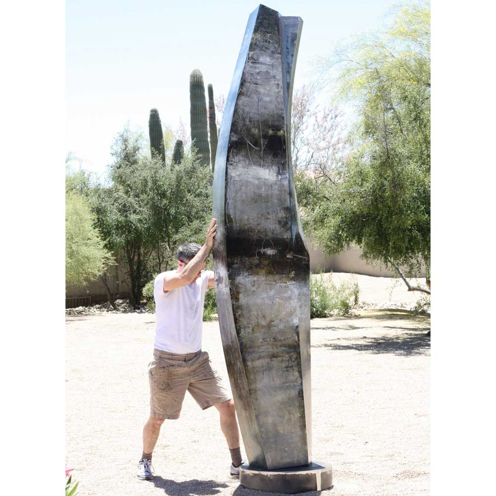 tall outdoor metal sculpture