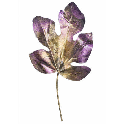 purple metal leaf art