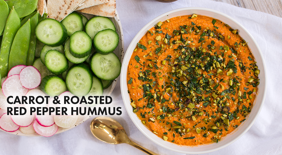 Carrot & Roasted Red Pepper Hummus