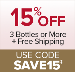 15% Off 3 Bottles or More + Free Shipping