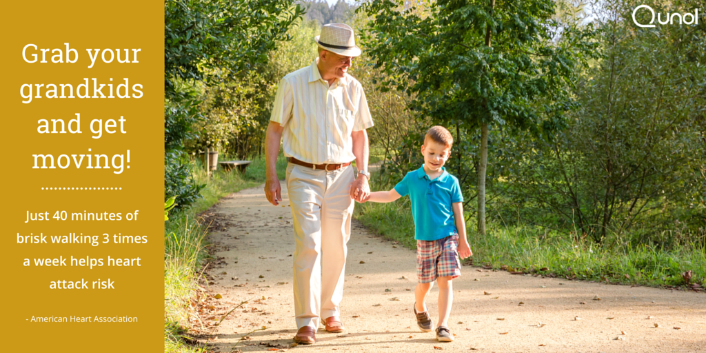 Reduce Your Heart Attack Risk – Grab Your Grandkids and Get Moving!