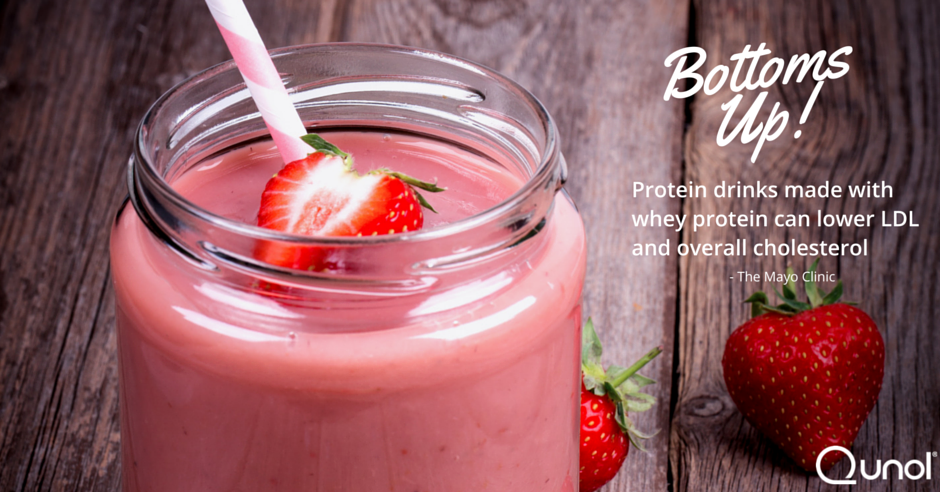 Bottoms up! Protein Drinks Made with Whey Protein Can Lower LDL and Overall Cholesterol