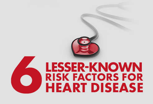 6 Lesser-Known Risk Factors for Heart Disease