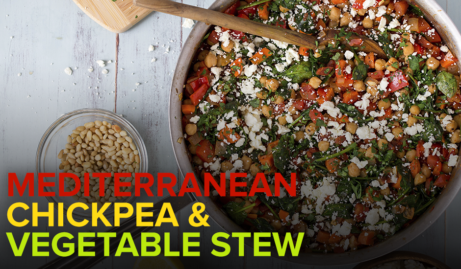 Heart Healthy Mediterranean Chickpea & Vegetable Stew
