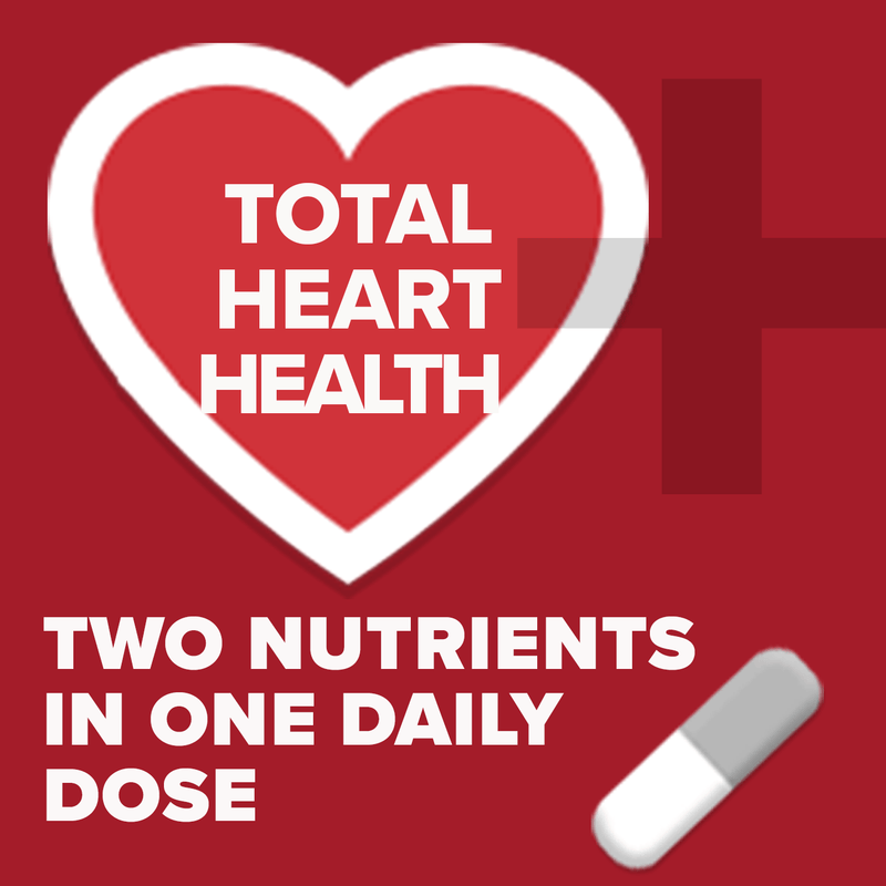 Total heart health. Two nutrients in one daily dose.