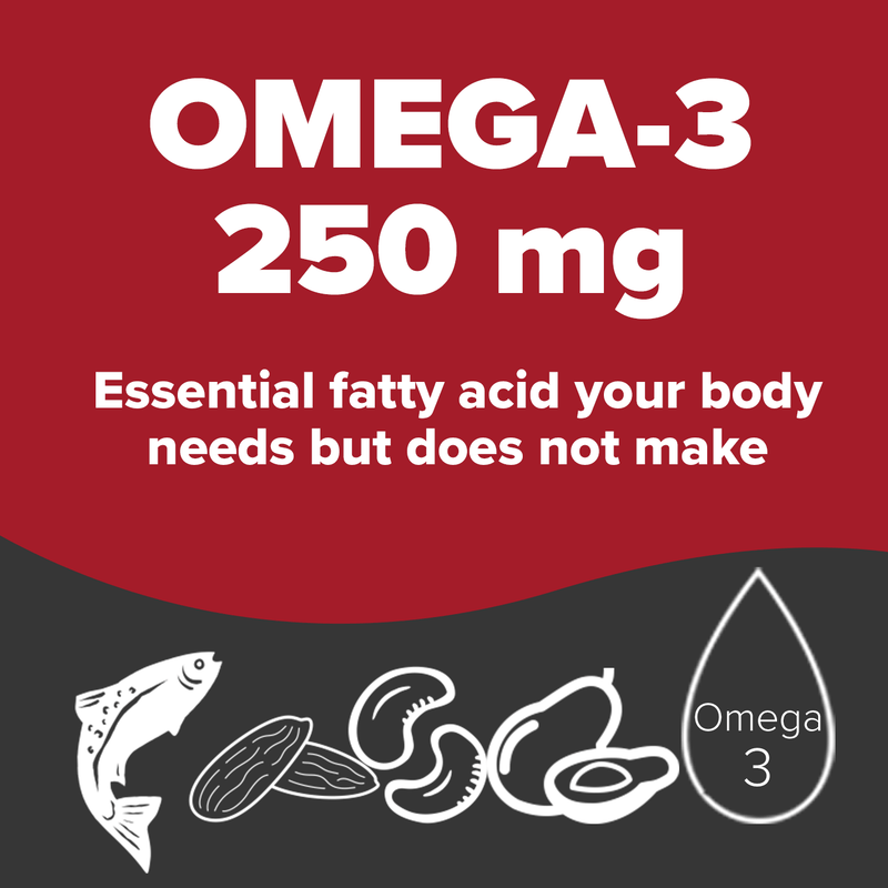 Omega-3 250 mg. Essential fatty acid your body needs but does not make.