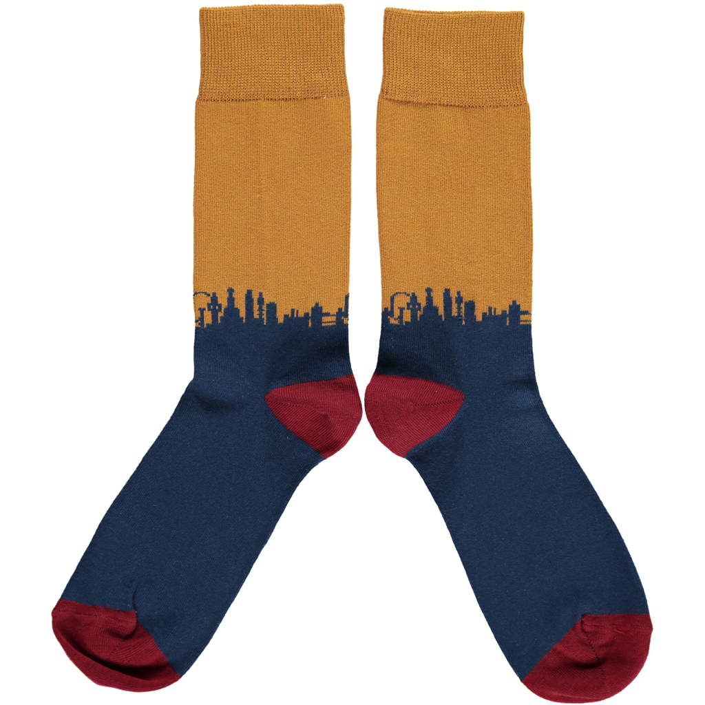 Men's London Skyline Cotton Ankle Socks