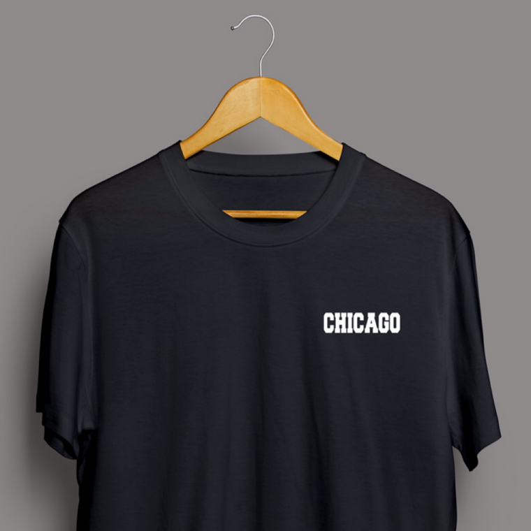 Classic Black Chicago T-shirt - Men's