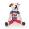 Union Jack Stuffed Bulldog