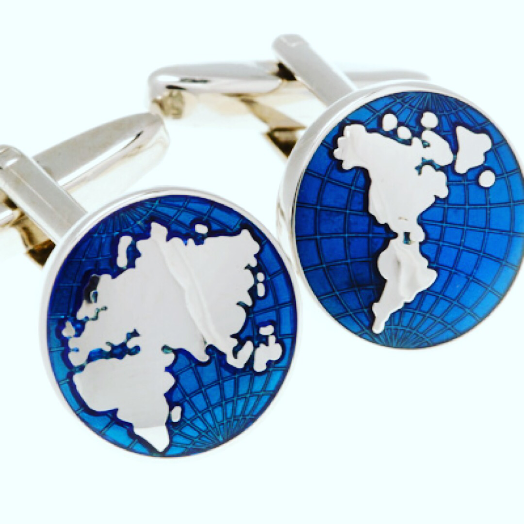 Map of the World Cufflinks