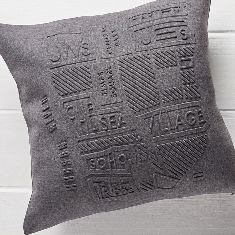 Manhattan Neighborhoods Throw Pillow (Cover only)