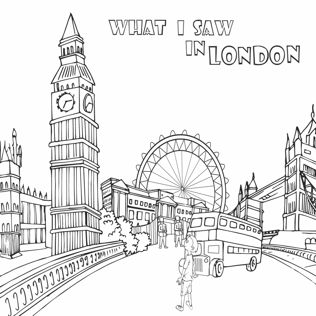London Scenes Coloring Sheet