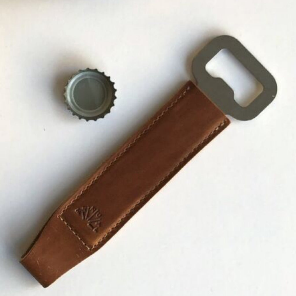 Chicago-made Leather & Steel Bar Blade (a flat bottle opener for the bartender's back pocket!)