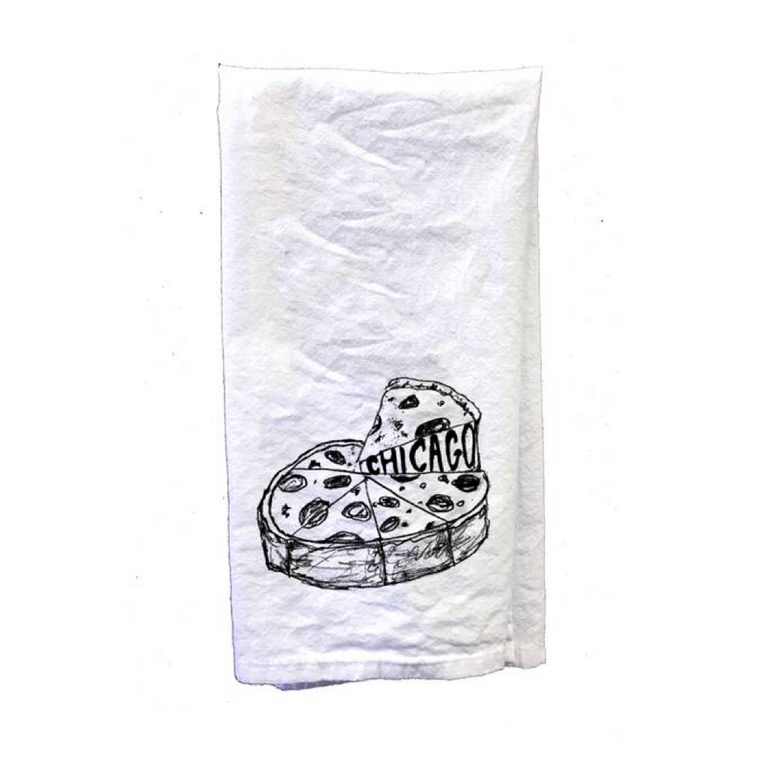 Deep Dish Pizza Tea Towels - Set of 2