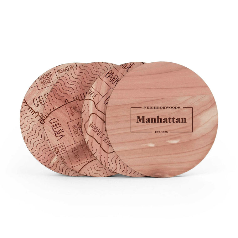 Manhattan Coasters - Set of 4