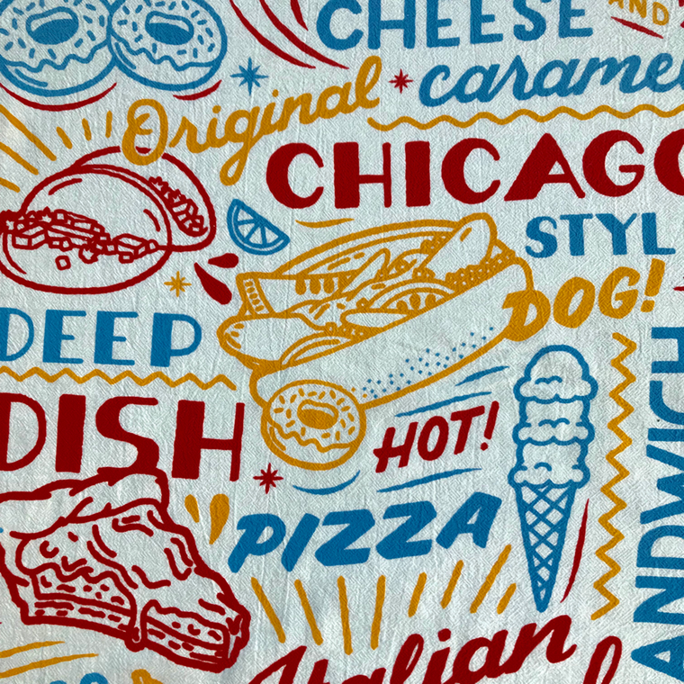 Chicago Cuisine Kitchen Towels - Set of 2