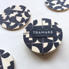 "Modern ""Shapes"" Beverage Coasters - Handmade in Chicago"