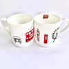 Set of 2 Mugs, Illustrated with London Icons