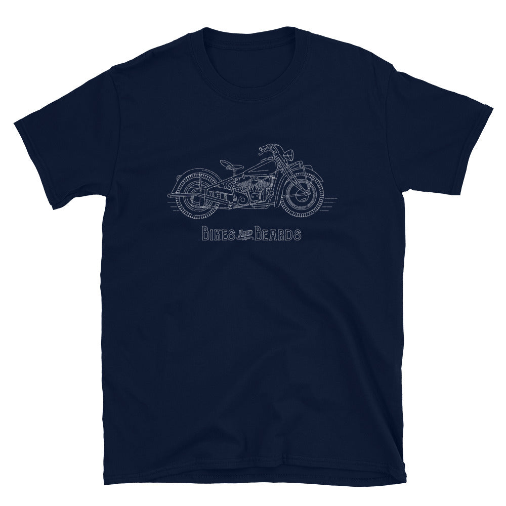 """This Old Indian"" Bikes And Beards Men's Short-Sleeve T-Shirt"