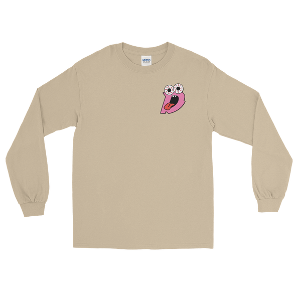 Drew Rez - Tan Long Sleeve - Pink Print