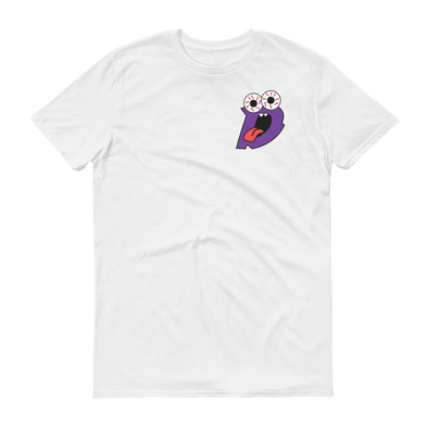 Drew Rez - White Tee (Purple Print)
