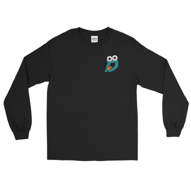 Drew Rez - Black Long Sleeve - Teal Print