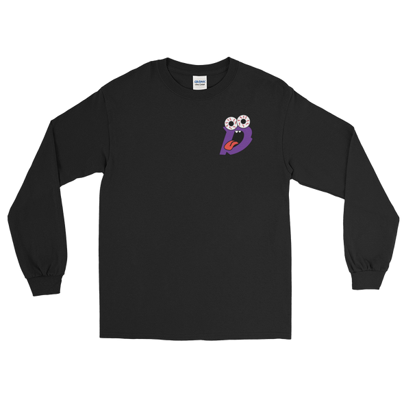 Drew Rez - Black Long Sleeve - Purple Print