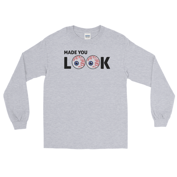Wit Rukus Made You Look - Grey Long Sleeve