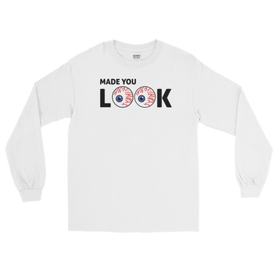 Wit Rukus Made You Look - White Long Sleeve