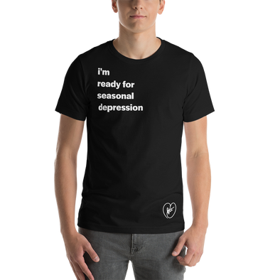 Reese Heartfelt Seasonal Depression - Black Tee
