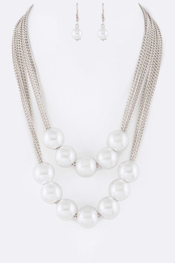 PEARLED UP NECKLACE SET - UVM Collection