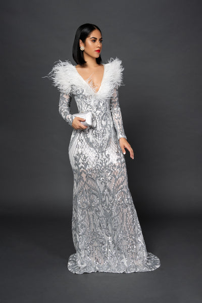GLAM ICY LONG GOWN - UVM Collection