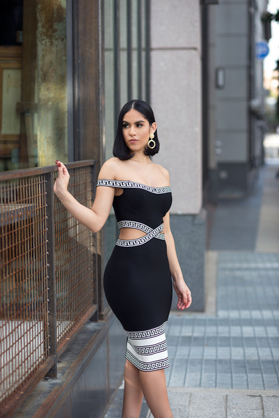 AMBRIA BANDAGE DRESS - UVM Collection