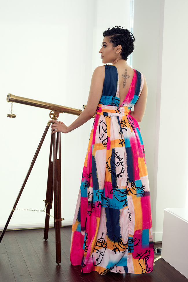 FULL OF ARTS MAXI DRESS - UVM Collection